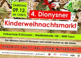 4. Dionysner Kinderweihnachtsmarkt